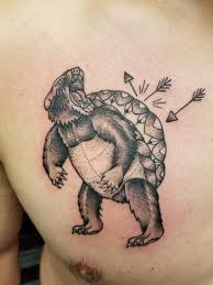 My Turtle Bear Tattoo By Taylor At Wicked Good Ink In Portland Me