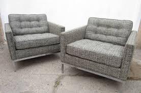 american pair of mid century modern florence knoll club chairs for