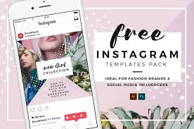 Free Design Templates For Instagram 35 Free Instagram Square Templates For Social Media Influencers