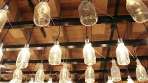 diy lamps chandeliers you can create from bottles