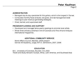 Combination Resume Example Executive Director Performing Arts P2