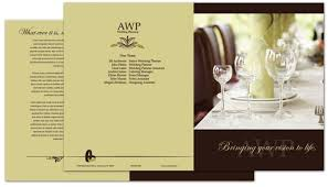 Half Fold Brochure Template For Wedding Planner Order Custom Half