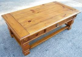 coffee table large antique style pine with single within english full size