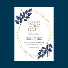 Wedding Invitation Templates With Photo Geometric Watercolor Wedding Invitation Template Vector