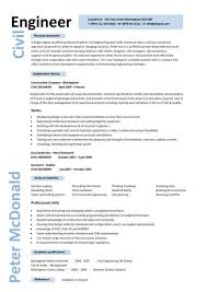 Civil Engineering Resume 1 Engineer CV Example 8