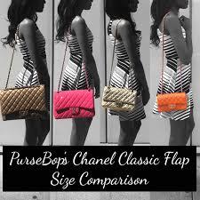 Chanel <b>Classic Flap</b> Size Comparison - PurseBop
