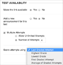 multiple test test and survey options blackboard help