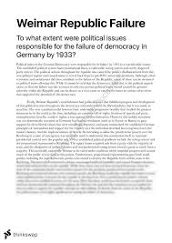 essay to what extent were political issues responsible essay to what extent were political issues responsible for the failure of democracy in