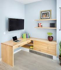 Custom Built-in Desk modern-home-office