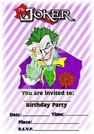 Design Party Invitations Batman The Joker Birthday Party Invites Striped Portrait