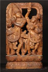 woodcarving radhakrishna india wood carving
