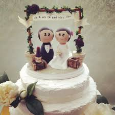 Wedding Cakes Ideas Cute Vintage Wedding Cake Topper Etsy With