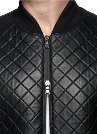Lyst - Neil barrett Quilted Leather Bomber Jacket in Black for Men & Gallery Adamdwight.com