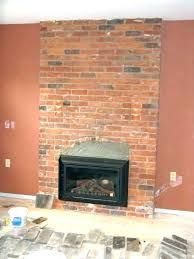 replace brick fireplace with stone refacing a brick fireplace with stone veneer refacing a brick fireplace replace brick fireplace with stone
