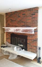 Building A Fireplace Painted Brick Fireplace Fresh Crush