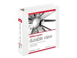 2in Binder Office Depot Nonstick Round Ring View Binder 2in Rings 100 Recycled White Od02962 Newegg Com