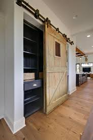 custom barn door to pantry farmhouse home office