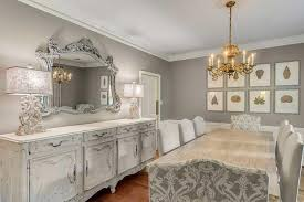 gray french dining room