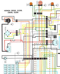 nos honda cb350 cl350 cb250 cl250 color wiring diagram