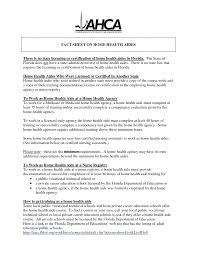 Hha Resume Curriculum Vitae Sample Retail Cover Letter Home Health