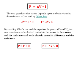 the two quantities that power depends upon are both to the resistance of the load