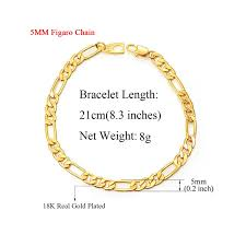 Gold Chain Width Size Chart Ttvovo Mens Gold Chain Bracelet 5mm 7mm Wide Big Chunky