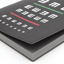 Eye Grid Chart Signature Eye Chart Grid Notebook A5 Black