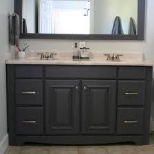 white wooden bathroom furniture. Bathroom. Black Wooden Bathroom Double Vanity Having White Top And Sink On Ceramics Flooring Plus Furniture N
