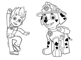 Paw Patrol Printable Coloring Pages Color Bros