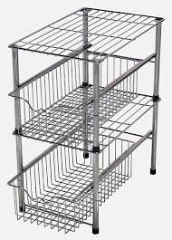 Amazon.com: DecoBros Stackable Under Sink Cabinet Sliding Basket Organizer  Drawer, Chrome