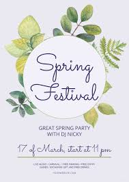 Spring Flyer Template Free Spring Festival Flyer Template In PSD MS Word Publisher 22
