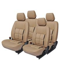 elaxa beige leather car seat cover for maruti dzire elaxa beige leather car seat cover for maruti dzire at low in india on snapdeal