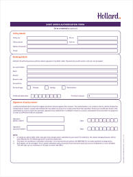 Debit Order Form Debit Order Form 24 Free Documents in Word PDF 1