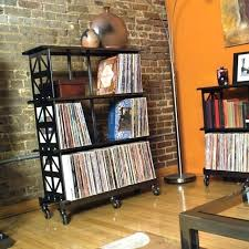 vinyl record storage rack wall