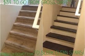 One Day At A Time Inexpensive Diy Carpet To Wood Stairs