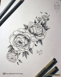 эскизы тату пион клуб татуировки фото тату значения эскизы