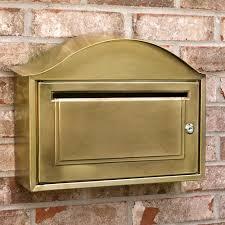 Arched Locking <b>Wall</b>-<b>Mount</b> Brass Mailbox - <b>Antique Brass</b> - Outdoor