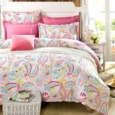 queen bedding sets for girls light pink paisley bedding kids girls teens flower cotton standard us size twin quilt sets