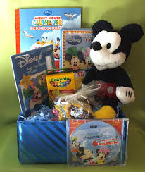 details about mickey mouse gift basket w personalized cd name 86xs licensed brand named