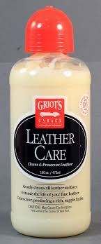 griot s garage leather care cleans and preserves leather 16 oz