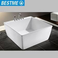 Korea Small Size Square Bath Tub / Portable Acrylic Bathtub For Adult  Photo, Detailed about