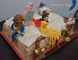 giovanna s cakes Beauty & the Beast character book cake