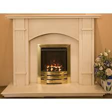 madison limestone fireplace