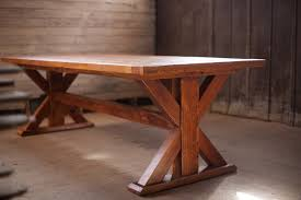 custom farm table reclaimed wood atlanta georgia athens trestle base farm