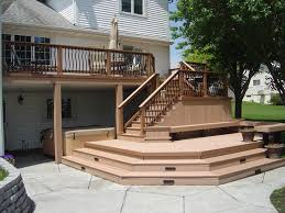 Timbertech twinfinish multi level deck and patio creston 2 design ideas archadeck
