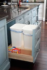 Kitchen:Double Kitchen Trash Can Storage Under Sink Idea Tremendous Kitchen  Cabinet Pull Out Trays