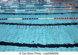 olympic swimming pool lanes. Lane Swimming Races In The Olympic Pool - Csp25582836 Lanes I