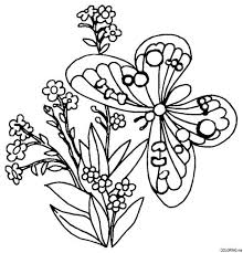 flower and butterfly coloring pages. Interesting And Coloring Pages Flowers Butterflies Home Inside Flower And Butterfly N