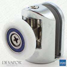 di vapor r top glass curved shower door roller