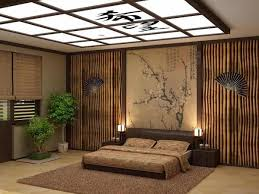 architectural asian bedroom